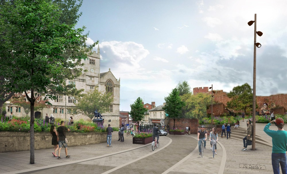 An artist's impression of Castle Street